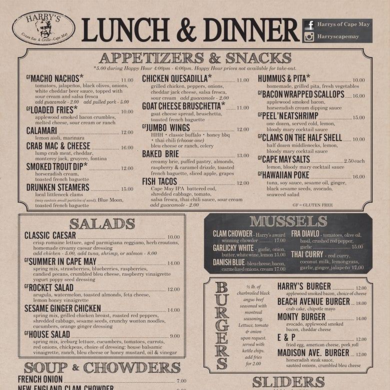 Lunch & Dinner Menu