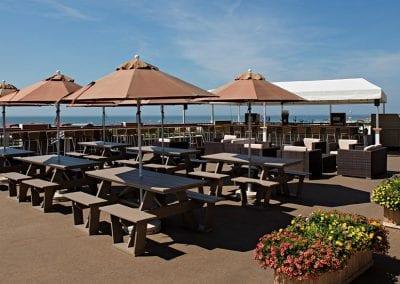 Harry's restaurant oceanview rooftop deck