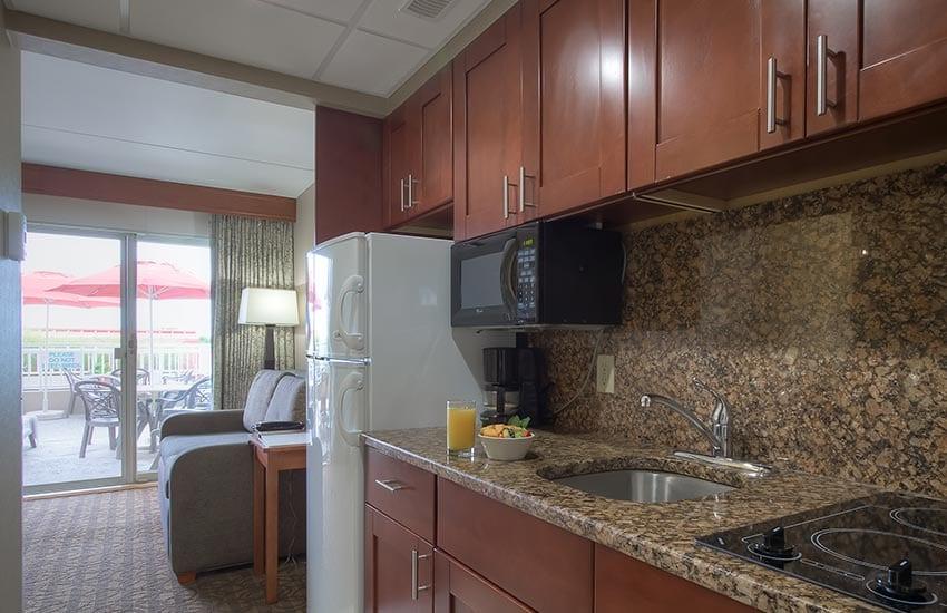 Cape May resort room kitchen