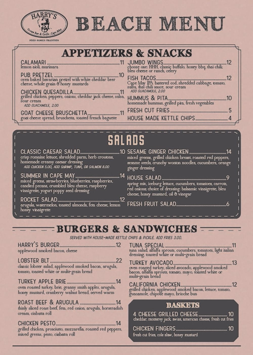 Appetizers & Snacks Menu